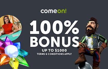 comeon poker casino bonus