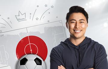 男性が日本のサッカーで使うブック メーカー 必勝 法を使う