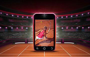 ブックメーカー テニス試合をスマホで見る