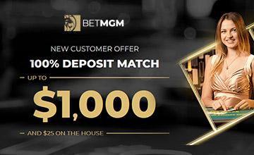 BetMGM - Get Your 100% Casino Bonus Now!